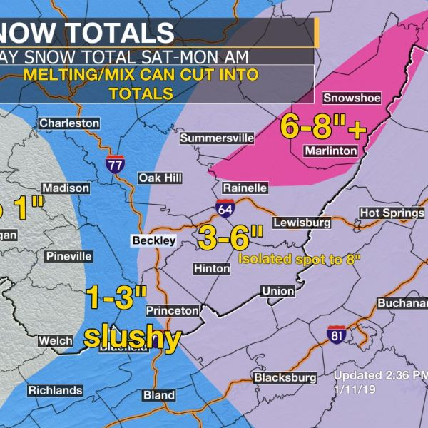 Snow Totals Through Weekend113