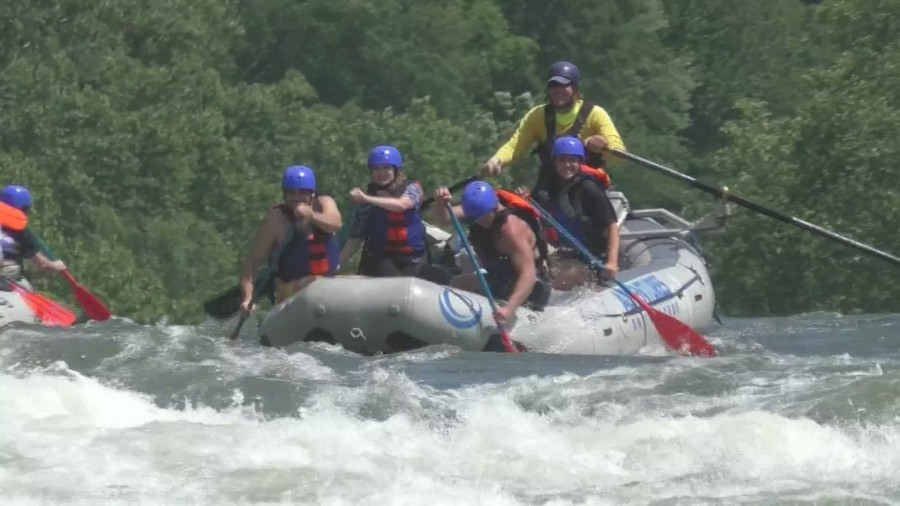 """On the Road"" White Water Rafting"