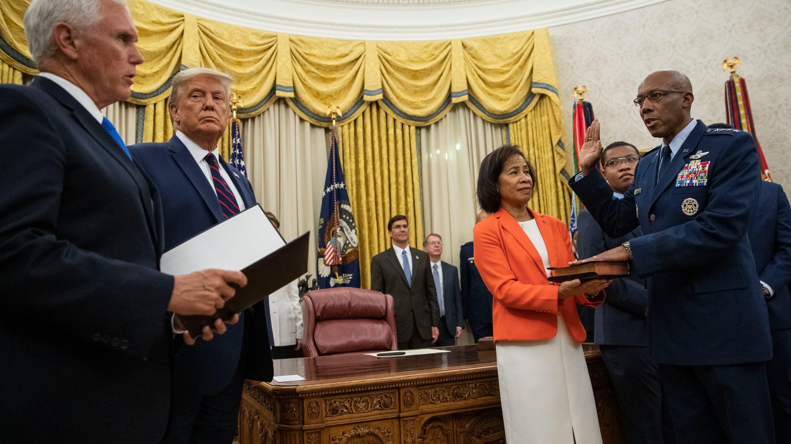 Donald Trump, Charles Q. Brown Jr.
