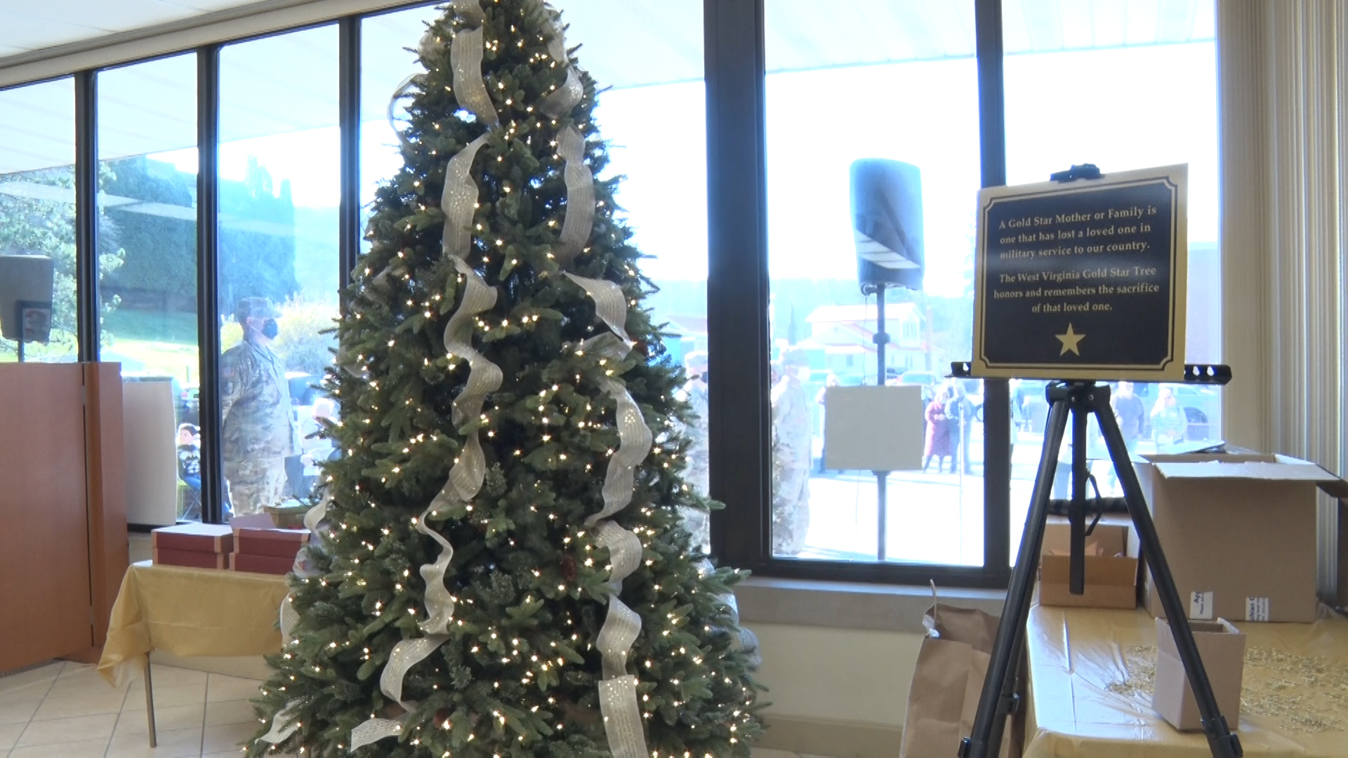 Gold Star Remembrance and Honor Tree displayed in Greenbrier
