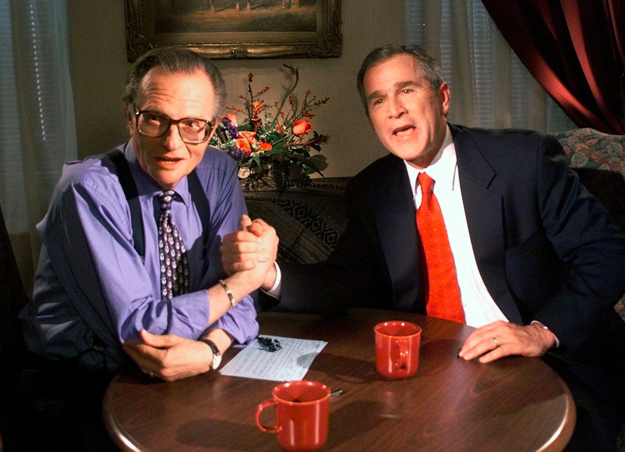 Larry King, George W. Bush