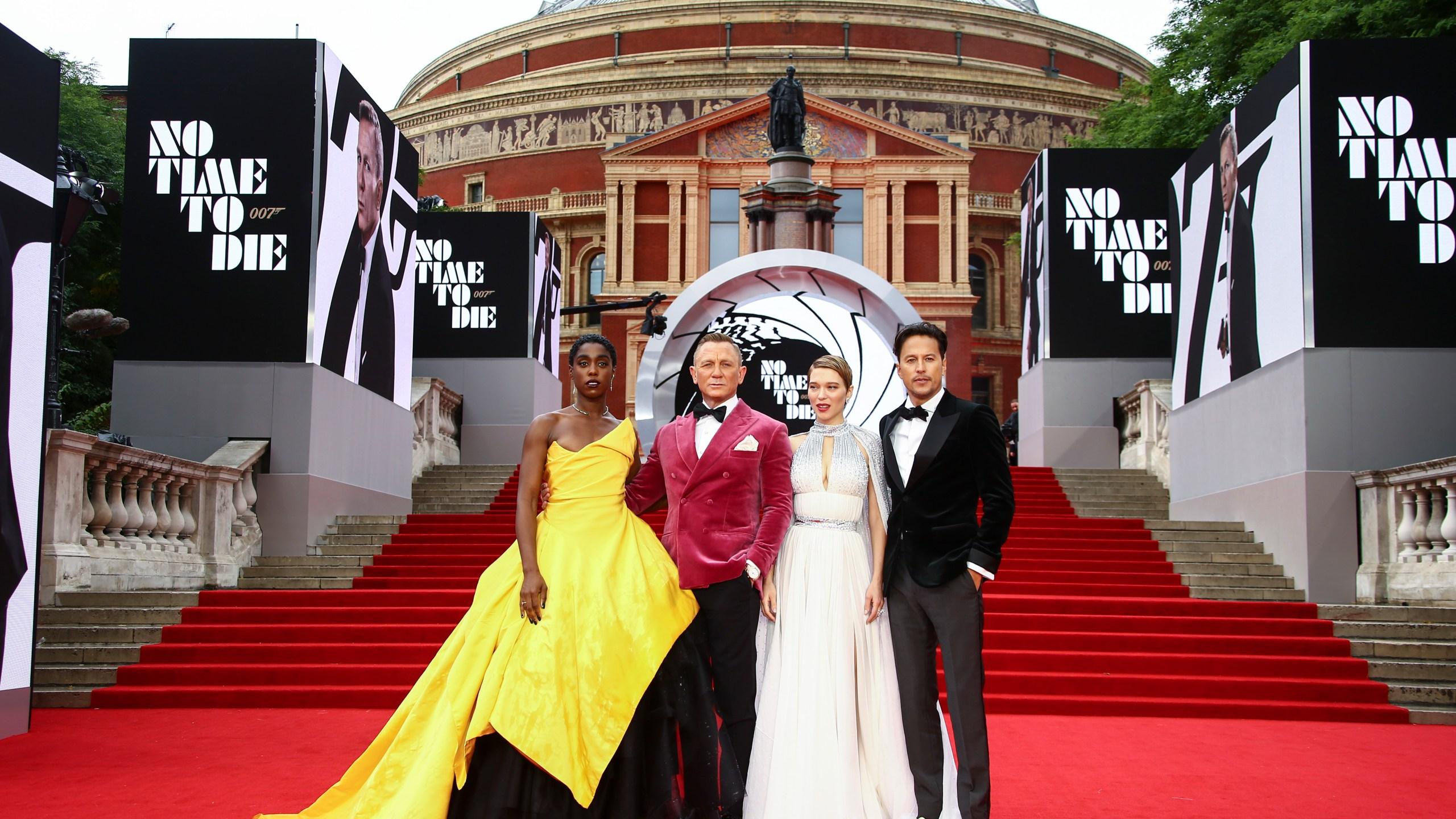 Lashana Lynch, Daniel Craig, Lea Seydoux and Cary Joji Fukunaga